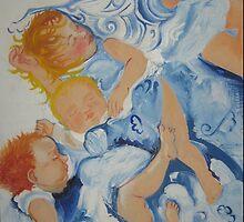 Children in blue by Sarah Bruhn