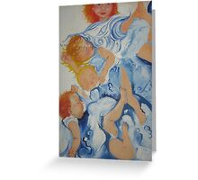 Children in blue Greeting Card