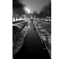 Wintery Canal Photographic Print