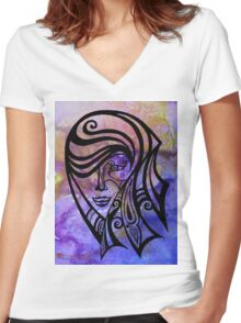 Madam Women's Fitted V-Neck T-Shirt
