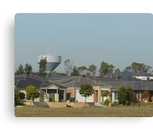 Houses and Water Tower Canvas Print