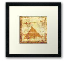 pyramid and moon Framed Print