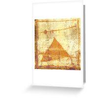 pyramid and moon Greeting Card