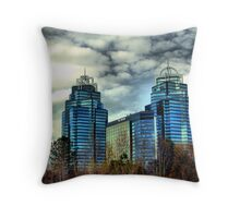 King and Queen Building Throw Pillow