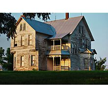 Sunset on the Old Home Place Photographic Print