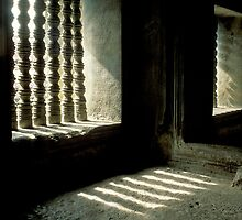 Ancient Pillars of Angkor Wat by Kerry Dunstone