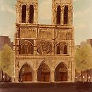 Notre Dame Cathedrel -acrylics on canvas by Gordon Pegler
