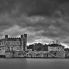 Leeds Castle Pano 1 B&amp;W by Bob Culshaw