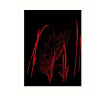 Spider Webs In Red Art Print