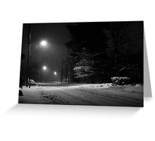 Snowy Night at Home Greeting Card