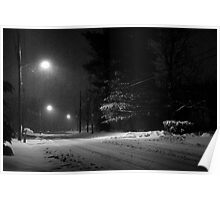 Snowy Night at Home Poster