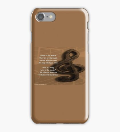 Life Song Love Music iPhone Case/Skin