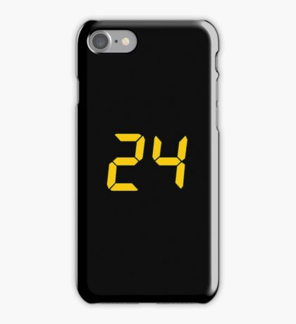 24 TV Show Text, Font iPhone Case/Skin