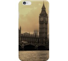 River Thames Sepia iPhone Case/Skin