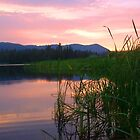 Horsethief Lake in August by Darrell-photos