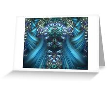 Juliscope Swirls in Blue Greeting Card