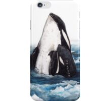 Orca and Baby (Killer Whale) iPhone Case/Skin