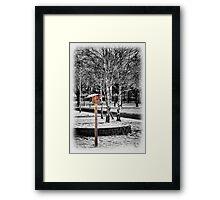 feeder Framed Print