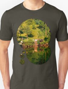 Green life, a river and reflections | waterscape photography T-Shirt