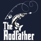 The Rodfather Fishing T Shirt by bitsnbobs