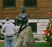 May I take your picture? Dolly Parton Statue on Courthouse Square, Sevierville, Tennesse by Susan Russell