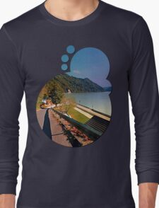 Road into Danube valley | waterscape photography Long Sleeve T-Shirt