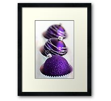 Christmas Purple Bauble Cupcakes Framed Print