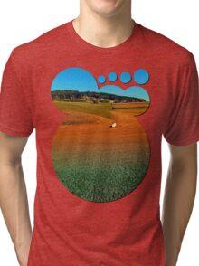 Colorful farmland scenery | landscape photography Tri-blend T-Shirt