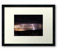 Lightning over Hobart Framed Print