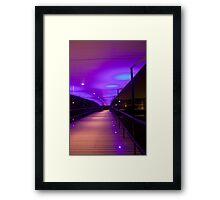 York Uni Bridge Framed Print
