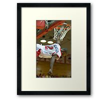 Dunked - Marist College, NY Framed Print