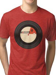 Vintage gramophone  record Tri-blend T-Shirt