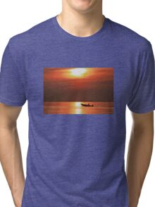 Fiery End to a Day of Fishing Tri-blend T-Shirt