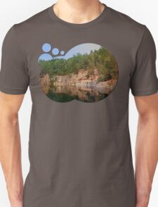Granite rocks at the natural lake | waterscape photography T-Shirt