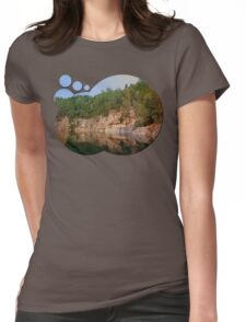 Granite rocks at the natural lake | waterscape photography Womens Fitted T-Shirt