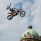 Motocross in front of the beautifull building by Aleksandra Misic
