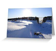 snow drift fabulous sky Greeting Card