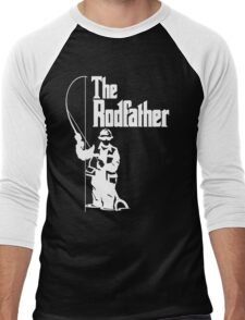 The Rodfather Fishing T Shirt Men's Baseball ¾ T-Shirt