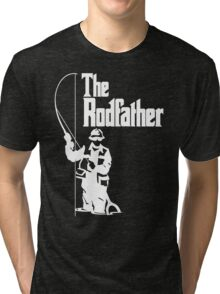 The Rodfather Fishing T Shirt Tri-blend T-Shirt