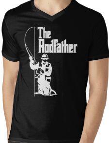 The Rodfather Fishing T Shirt Mens V-Neck T-Shirt
