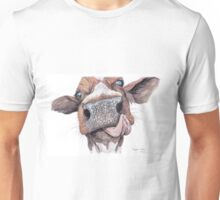 Cow Licking Lips Unisex T-Shirt