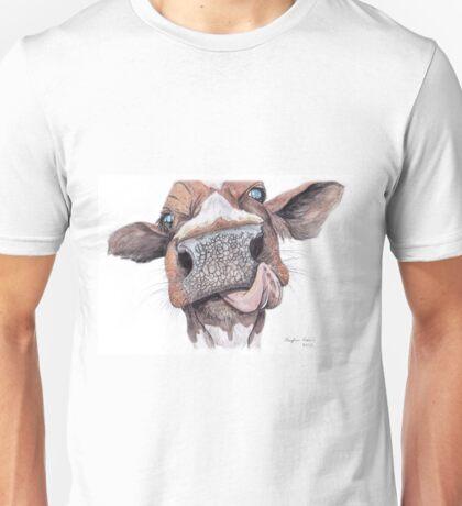 Cow Licking Lips Unisex T-Shirt
