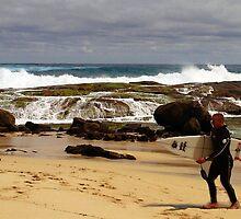 Cascades, rocks and a lone surfer by georgieboy98