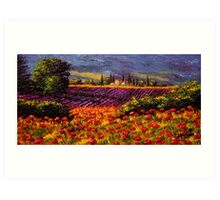 Provence Wildflowers & Lavender Art Print