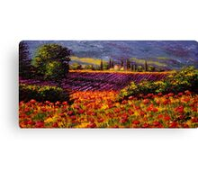 Provence Wildflowers & Lavender Canvas Print