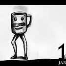 January 11th - The dancing Coffee by 365 Notepads -  School of Faces