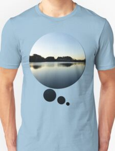Indian summer sunset at the fishing lake V | waterscape photography T-Shirt