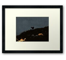 High abowe the troubled waters Framed Print