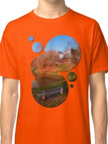 Romantic bench at the pond | waterscape photography Classic T-Shirt