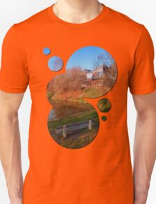 Romantic bench at the pond | waterscape photography T-Shirt